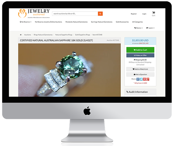 Jewelry Auctioned Marketplace